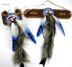 Indianer Oberarmschmuck mit Federn Armband