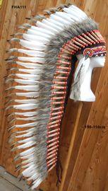 Indianer Federhaube lang 120cm