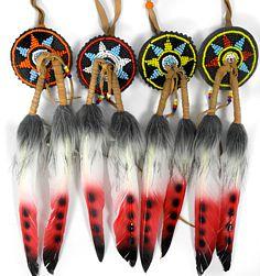 Indianische Haarspange Zopfband 2 bunte Federn