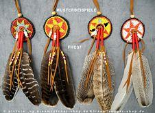Indianer-Haarschmuck Zopfspange 2 Federn dunkel
