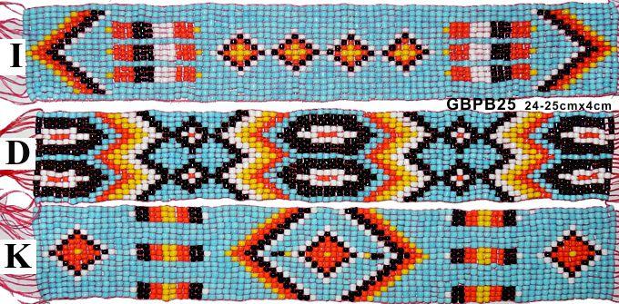 Perlenband für Indianerkleidung Taschen