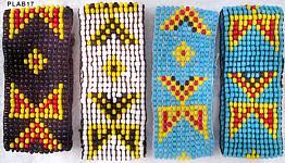 indianisches Perlenarmband 4cm elastisch