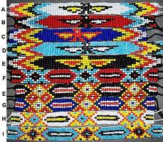 indianisches Perlenarmband 7-reihig