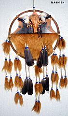 Mandala mit Fell Büffelschädel