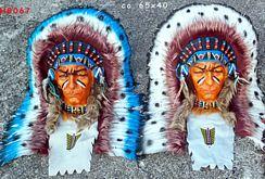 Indianerkopf Wandmaske