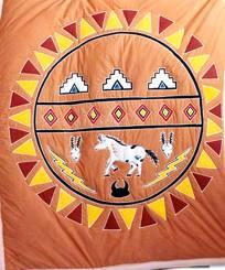Indianisches Quilt Tagesdecke Decke