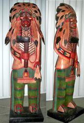 Indianerfigur aus Holz massiv