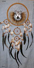 Traumfänger mit Wolfskopf 90cm